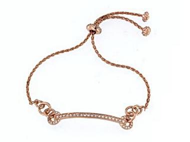 Rose Tone Bolo Bracelet