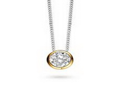 Gold Plated Set Cubic Pendant