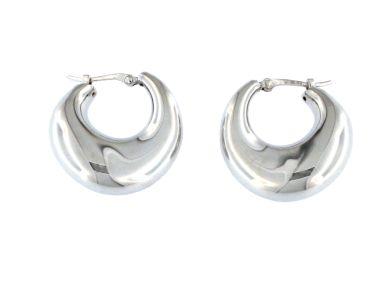 Fancy Silver Hoops