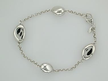 "Silver ""Bean"" bracelet"