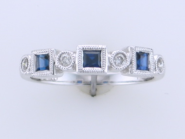 18kw Sapphire & Diamond Ring