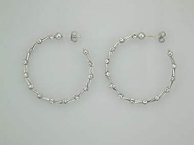 Medium White Tube Earrings