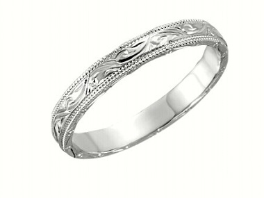 14KT Hand Engraved Band