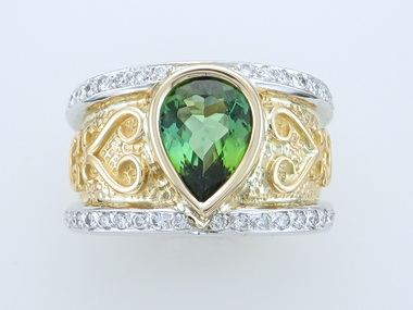 2.34ct Green Tourmaline Ring