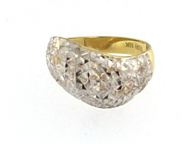 Ring with Diamond Cut Finish