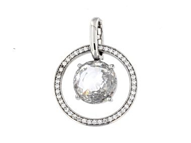 Crystal and Cubic Pendant