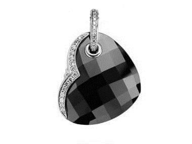 Black Onyx Heart Pendant