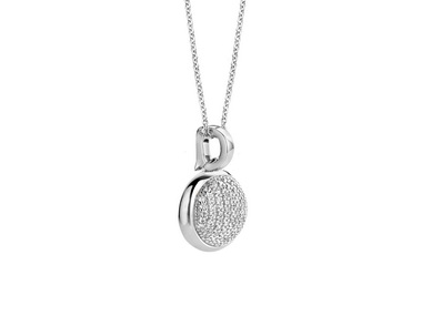 Silver Oval Pendant and Chain