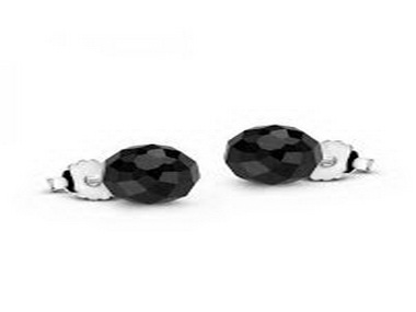 Silver and Onyx Stud Earrings