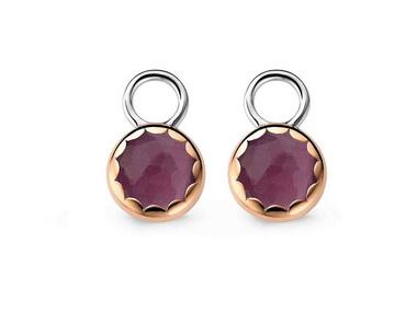 Purple Earring Charms