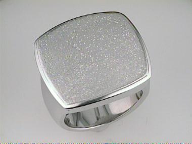Cushion- Shaped Silver Ring