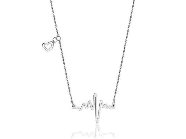 Steel Heartbeat Necklace
