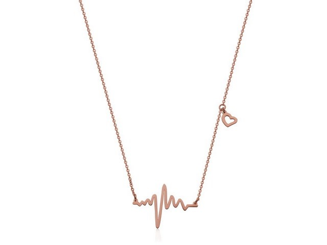 Rose Heartbeat Necklace