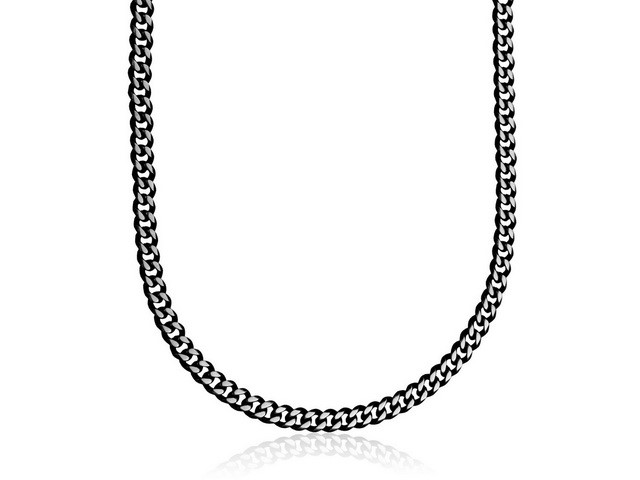 Black Plated Figaro Chain