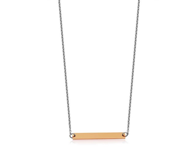 Rose Bar Necklace