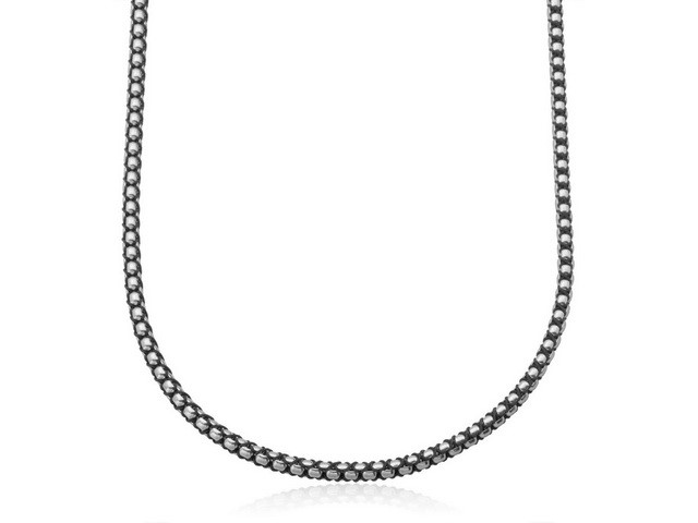 Black Cord and Steel Chain