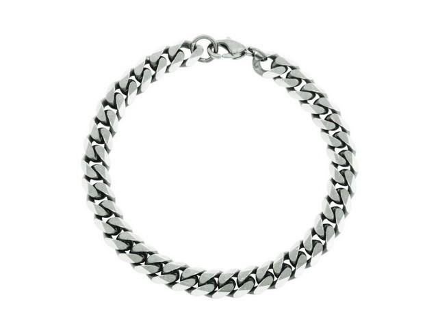 Steel Curb Link Bracelet