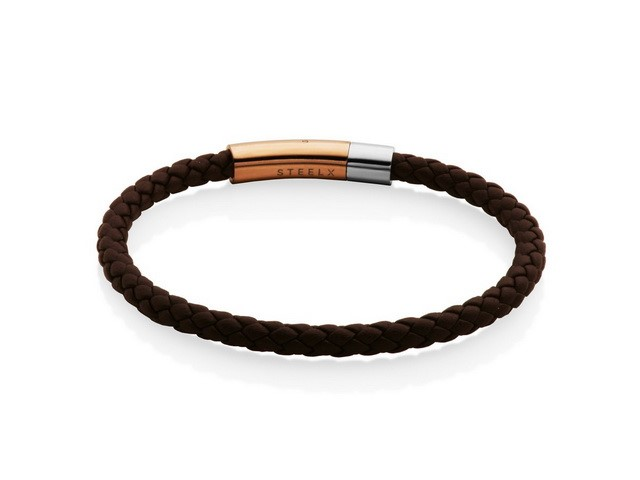 Steelx Brown Leather Bracelet