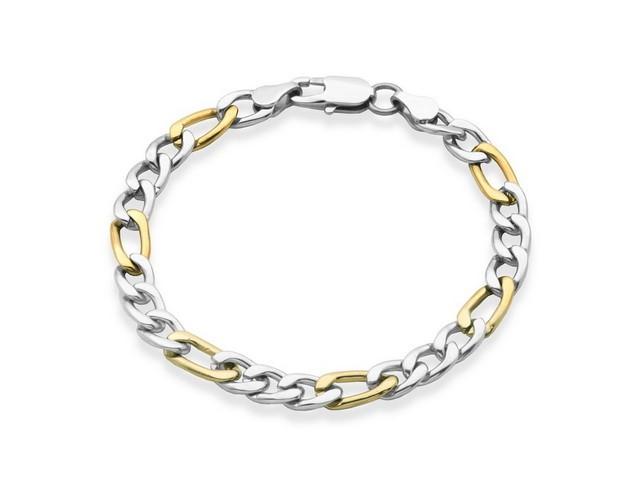 Steel Figaro Bracelet