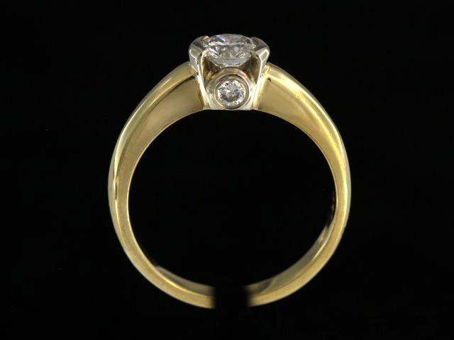0.73 ctw Bezel Set Engagement Ring