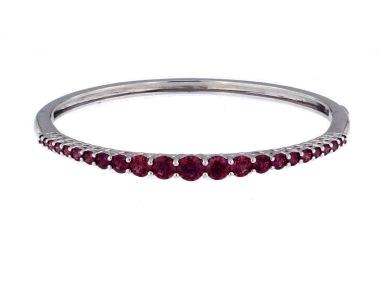 Raspberry CZ Bracelet