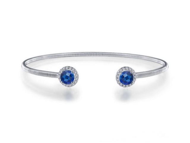 Sapphire & Cubic Bangle