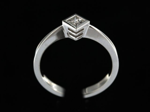 0.18 Ct Princess Cut Diamond Ring
