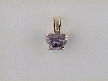 10ky February Butterfly Pendant