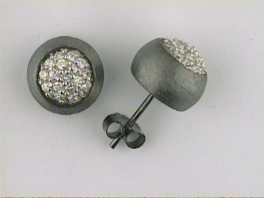 Silver Earrings With Cubic