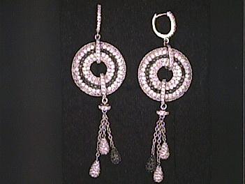 Silver Cubic Set Earrings