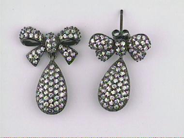 Silver Earrings Black Rhodium