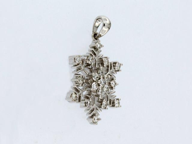 0.47 Ctw Diamond Snowflake Pendant