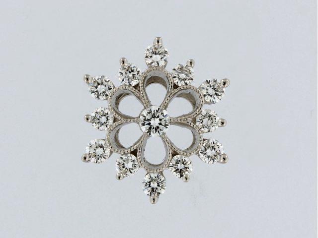 0.41ctw Diamond Snowflake Pendant