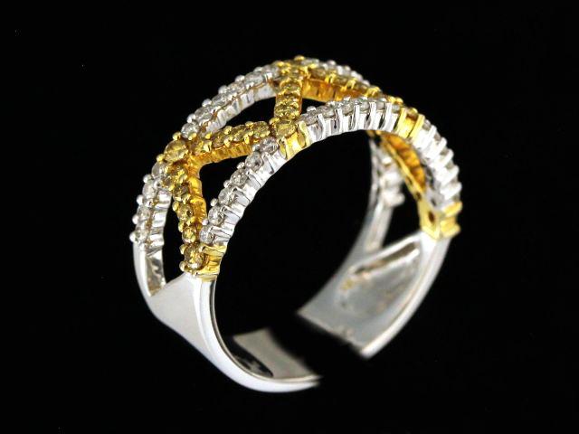 18kt Yellow & White Diamond Ring
