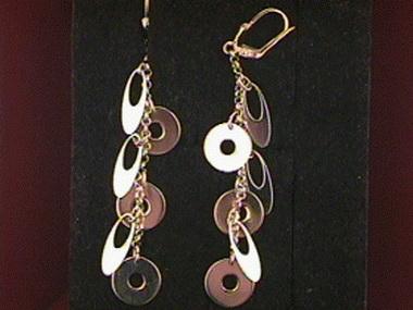 Circles & Ovals Dangle Earrings
