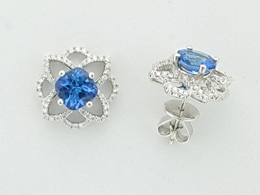 18KT Tanzanite & Dia. Earrings