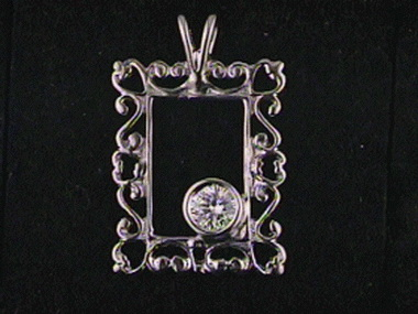 .21 Ct Diamond Frame Pendant