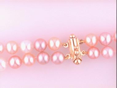 Double Strand Of Multicolor Pearl