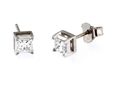 Princess Diamond Studs