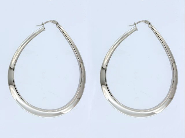 White Gold Electroform Earrings