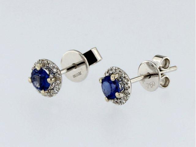 Halo Sapphire Earrings