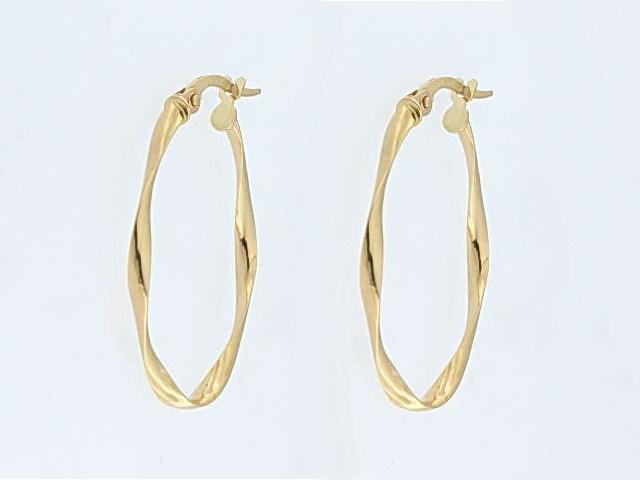 10KT Small Twist Earrings