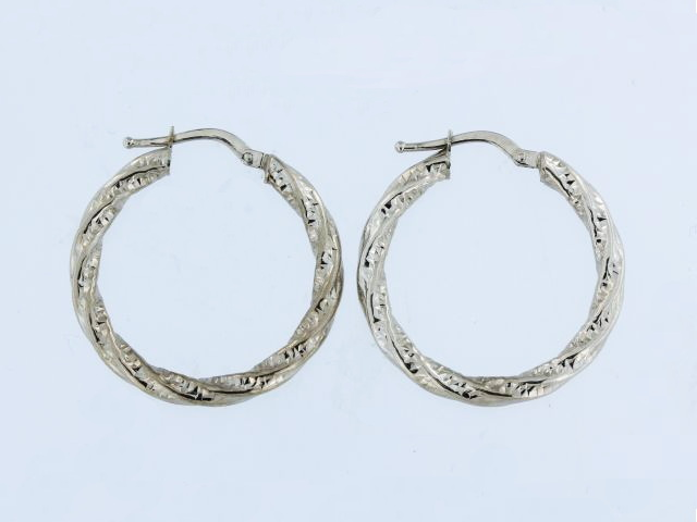 Textured Hoop Earrings