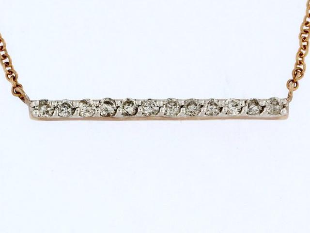 10KT Diamond Bar Pendant