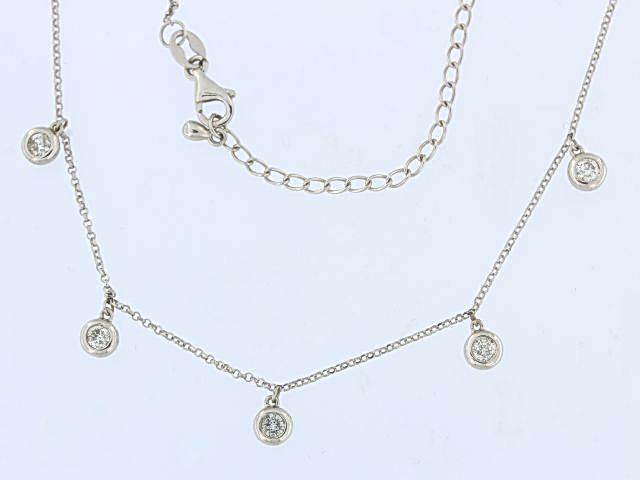 14KT Diamond Dangle Necklace
