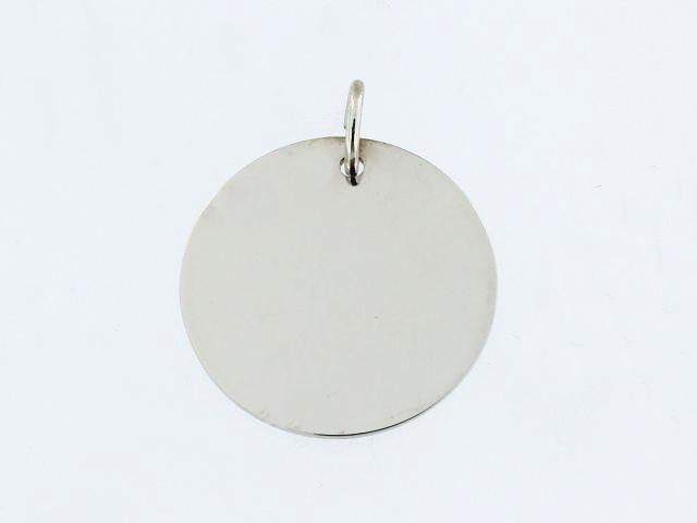 10KT Engraveable Disc Pendant