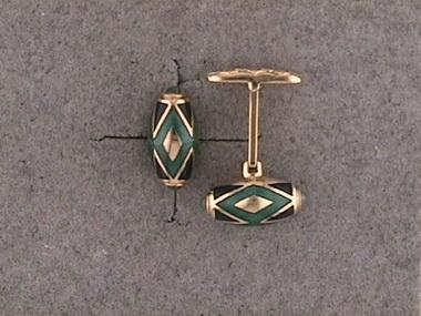 Blue & Green Enamel Cufflinks