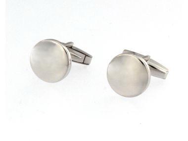 Round Silver Cufflinks