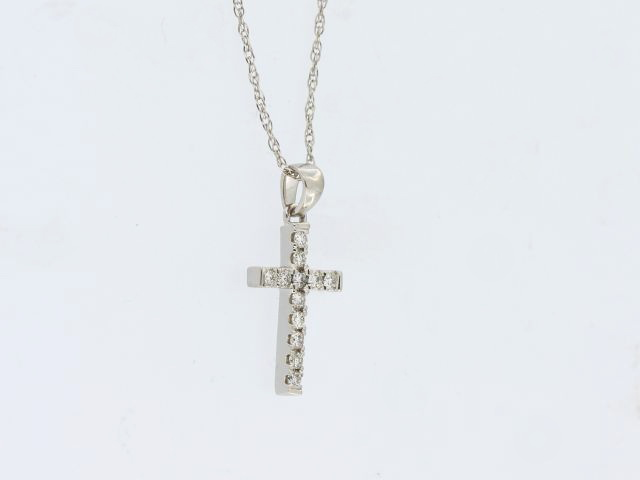 14KW Diamond Cross & Chain