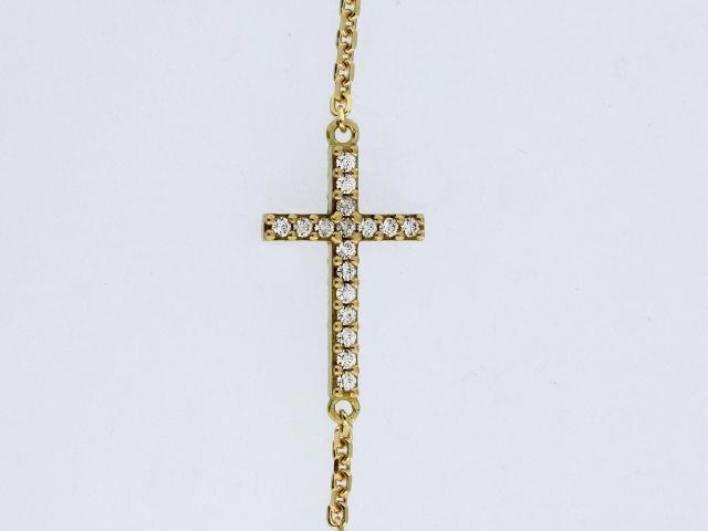 18KT Cross Bracelet